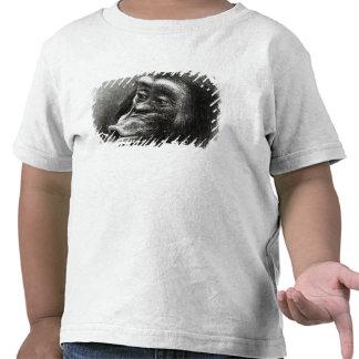 Chimpancé decepcionado y malhumorado camiseta
