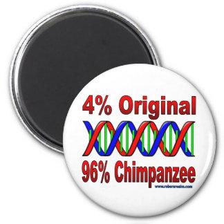 chimpancé del 96% imán redondo 5 cm