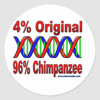 chimpancé del 96% pegatinas redondas