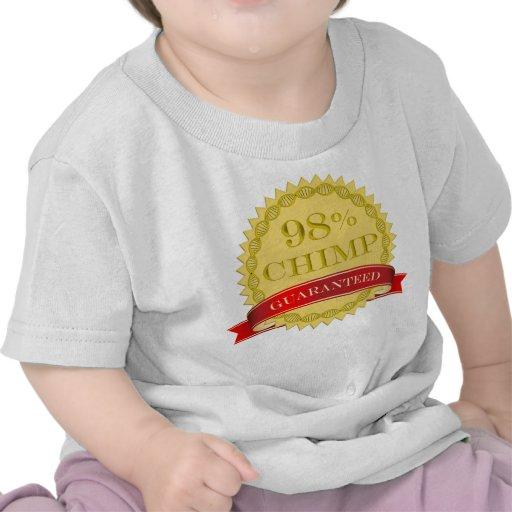 Chimpancé del 98% - garantizado camisetas