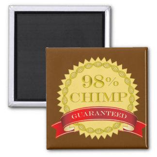 Chimpancé del 98% - garantizado imán cuadrado