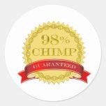 Chimpancé del 98% - garantizado pegatinas redondas