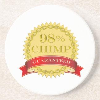 Chimpancé del 98% - garantizado posavasos manualidades