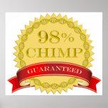 Chimpancé del 98% - garantizado poster