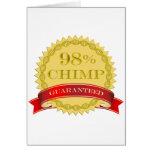 Chimpancé del 98% - garantizado tarjetas