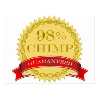 Chimpancé del 98% - garantizado tarjetas postales