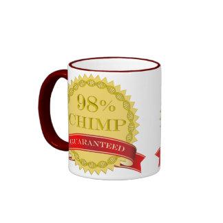 Chimpancé del 98% - garantizado taza de dos colores