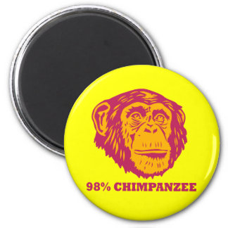 Chimpancé del 98% imán redondo 5 cm