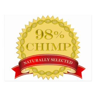 Chimpancé del 98% - seleccionado naturalmente postales