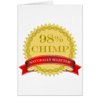 Chimpancé del 98% - seleccionado naturalmente tarjeta de felicitación