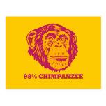 Chimpancé del 98% tarjetas postales
