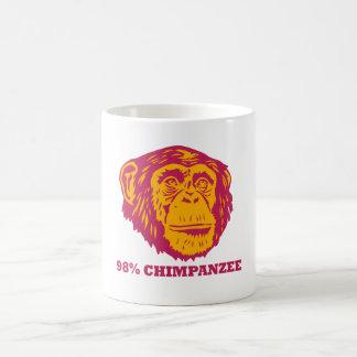 Chimpancé del 98% taza