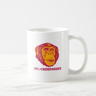Chimpancé del 98% taza de café