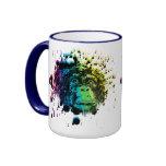 Chimpancé del arco iris taza