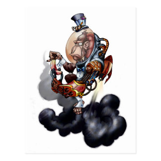 Chimpancé del espacio de Steampunk Tarjetas Postales