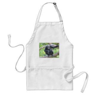 chimpancé delantales