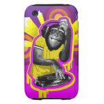 Chimpancé DJ iPhone 3 Tough Carcasas