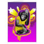 Chimpancé DJ Tarjeta De Felicitación
