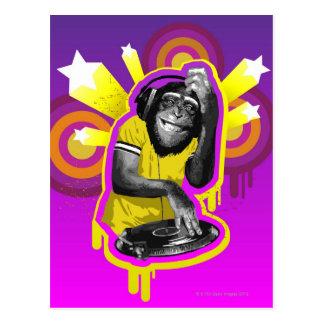 Chimpancé DJ Postal