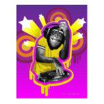 Chimpancé DJ Tarjetas Postales