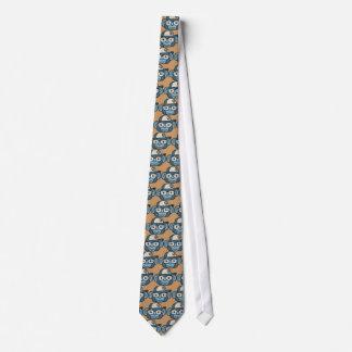 Chimpancé en azul corbata
