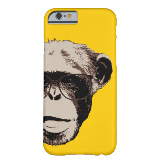 Chimpancé Geeky en caja amarilla del iPhone 6 de Funda Barely There iPhone 6