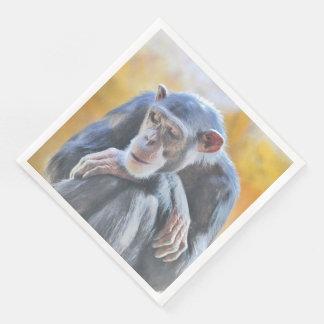 chimpancé impresionante 1016 servilletas desechables