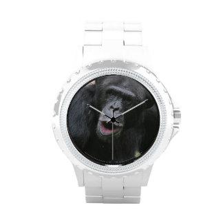 Chimpancé lindo relojes de pulsera