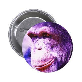 Chimpancé Pin Redondo De 2 Pulgadas
