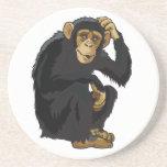 chimpancé posavasos cerveza