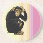 chimpancé posavasos diseño