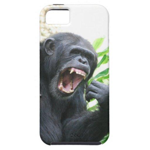 Chimpancé que descubre los dientes iPhone 5 Case-Mate carcasas