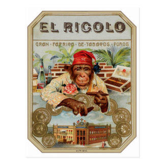 Chimpancé retro del EL Ricolo del cigarro del kits Tarjetas Postales