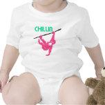 Chimpancé rosado de Chillin en una cuerda Camiseta