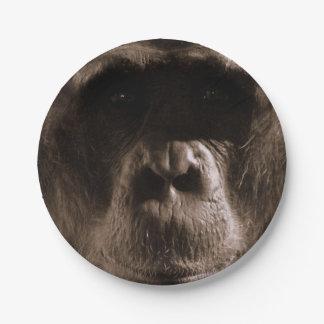 Chimpancé Plato De Papel 17,78 Cm
