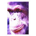 Chimpancé sonriente papelería