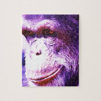Chimpancé sonriente rompecabeza