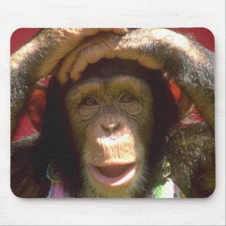 Chimpancé sonriente alfombrillas de raton