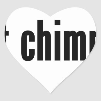 chimpancés conseguidos pegatina en forma de corazón