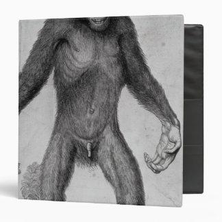 Chimpanzee, 1699 3 ring binder