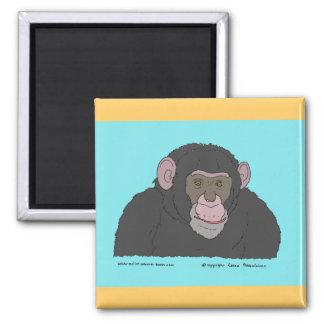 Chimpanzee 2 Inch Square Magnet