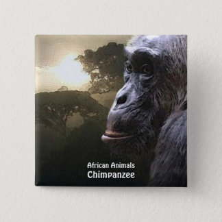 CHIMPANZEE African Animal Series Button
