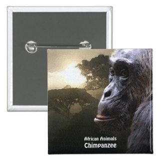 CHIMPANZEE African Animal Series Button
