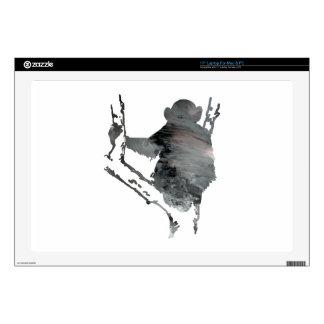 "chimpanzee art 17"" laptop decal"