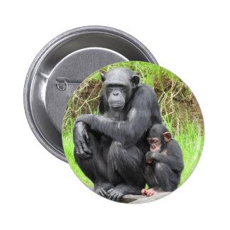 Chimpanzee Badge Pinback Button