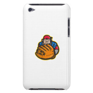 Chimpanzee Baseball Catcher Glove Retro iPod Touch Case-Mate Case