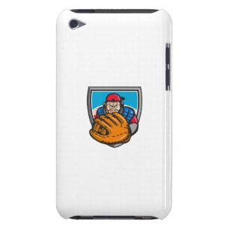 Chimpanzee Baseball Catcher Glove Shield Retro Case-Mate iPod Touch Case