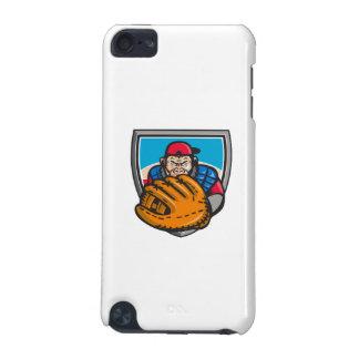 Chimpanzee Baseball Catcher Glove Shield Retro iPod Touch 5G Cover