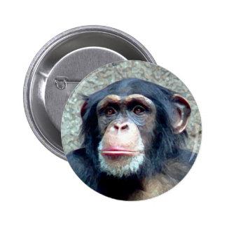 Chimpanzee Button