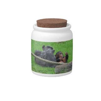 Chimpanzee Candy Jar